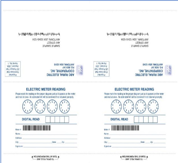 Pressure Seal Double Postcards